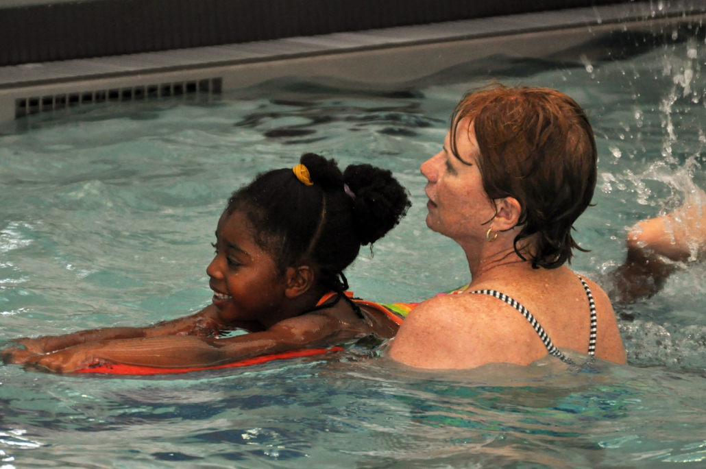 Instructor and Child at Swim Clinic
