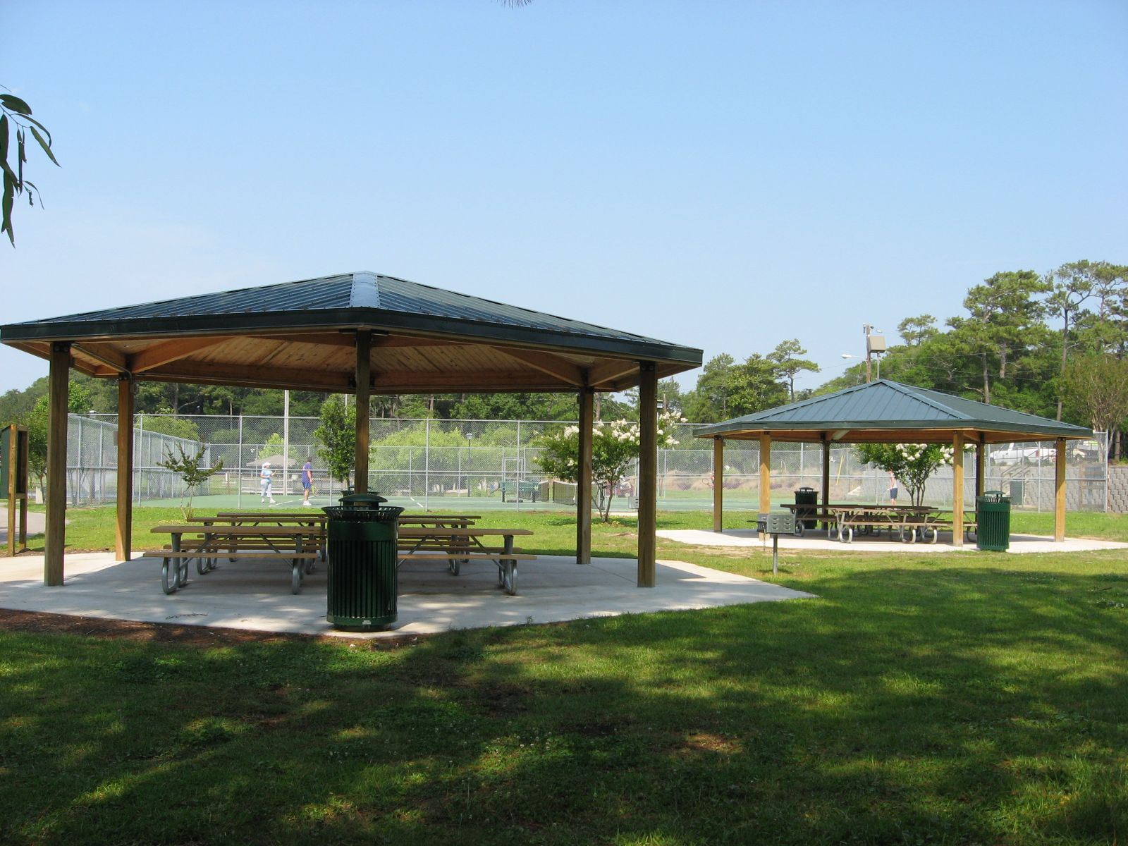 Two Shelters with Picnic Tables