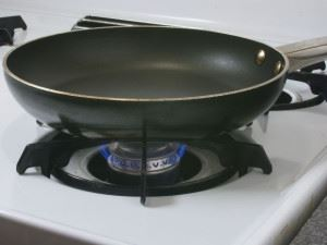 Pan on a Gast Stove