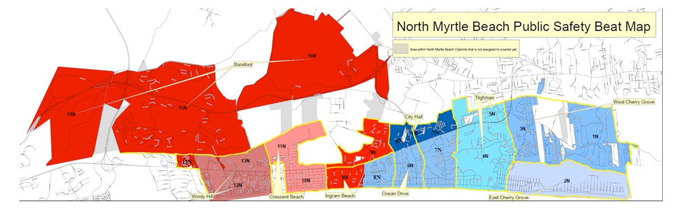 North Myrtle Beach Public Safety Beat Map